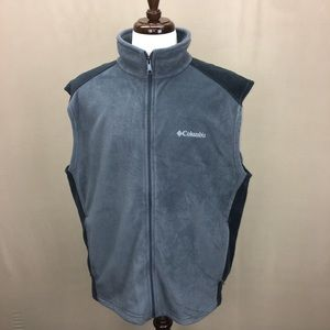 NWOT Columbia Gray Fleece Winter Vest sz XL
